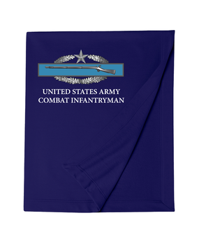 Combat Infantryman's Badge (2nd Award) Embroidered Dryblend Stadium Blanket