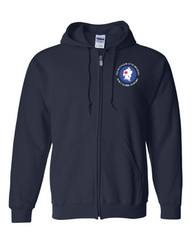 5th Battalion 87th Infantry (C) Embroidered Hooded Sweatshirt with Zipper