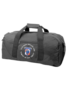35th Signal Brigade (Airborne) (C) Embroidered Duffel Bag