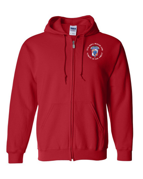 35th Signal Brigade (Airborne) (C) Embroidered Hooded Sweatshirt with Zipper