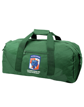 35th Signal Brigade (Airborne) Embroidered Duffel Bag