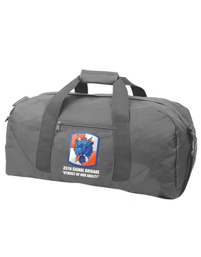 35th Signal Brigade Embroidered Duffel Bag