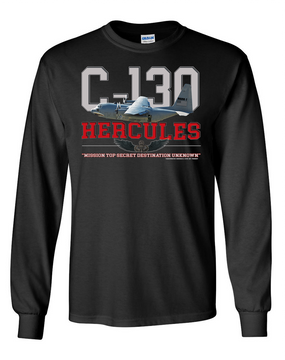 "C-130 ""Airborne"" Long-Sleeve Cotton T-Shirt"