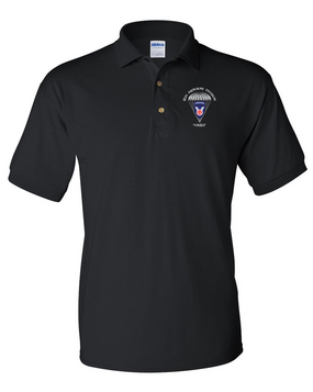 11th Airborne Division Embroidered Cotton Polo Shirt