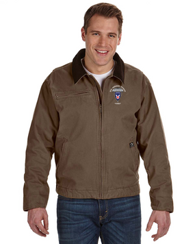 11th Airborne Division Embroidered DRI-DUCK Outlaw Jacket
