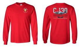 "3/4 Air Defense Artillery (Airborne) ""C-130""  Long Sleeve Cotton Shirt"