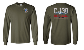 "35th Signal Battalion (Airborne)  ""C-130""  Long Sleeve Cotton Shirt"
