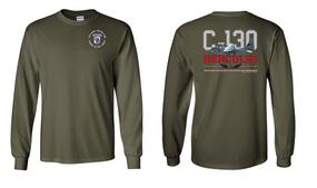 "35th Signal Battalion (Airborne)  ""C-130""  Long Sleeve Cotton Shirt"