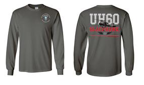 "313th MI Battalion (Airborne) ""UH-60"" Long Sleeve Cotton Shirt"