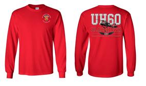 "319th Airborne Field Artillery Regiment ""UH-60"" Long Sleeve Cotton Shirt"