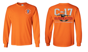 "35th Signal Brigade (Airborne)  ""C-17 Globemaster""  Long Sleeve Cotton Shirt"