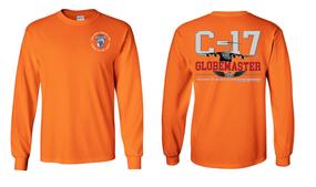 "35th Signal Brigade (Airborne)  ""C-17 Globemaster""  Long Sleeve Cotton Shirt"