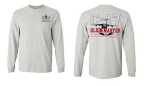 "US Army Senior Parachutist ""C-17 Globemaster""  Long Sleeve Cotton Shirt"