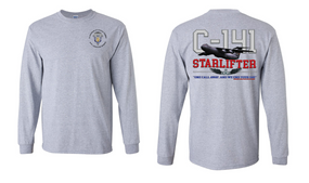"""1st Squadron 17th Cavalry Regiment (Airborne) """"C-141 Starlifter"""" Long Sleeve Cotton Shirt"""