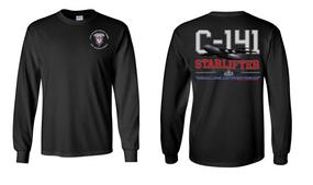 """2-501st Parachute Infantry Regiment  """"C-141 Starlifter"""" Long Sleeve Cotton Shirt"""