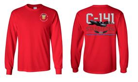 """3/4 Air Defense Artillery (Airborne) """"C-141 Starlifter"""" Long Sleeve Cotton Shirt"""