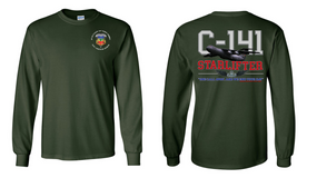 "3-73rd Armor (Airborne) ""C-141 Starlifter"" Long Sleeve Cotton Shirt"