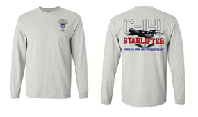 "11th Airborne Division ""C-141 Starlifter"" Long Sleeve Cotton Shirt"