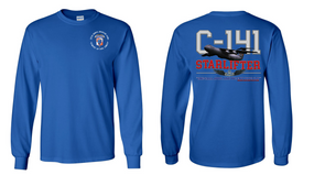 "35th Signal Brigade (Airborne) ""C-141 Starlifter"" Long Sleeve Cotton Shirt"