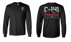 "82nd Hqtrs & Hqtrs Battalion ""C-141 Starlifter"" Long Sleeve Cotton Shirt"