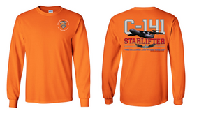 "82nd Signal Battalion ""C-141 Starlifter"" Long Sleeve Cotton Shirt"