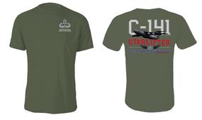 "US Army Master Parachutist w/ Combat Jump ""C-141 Starlifter"" Cotton Shirt"