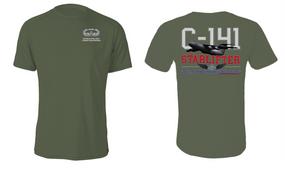 "US Army Basic Parachutist w/ Combat Jump ""C-141 Starlifter"" Cotton Shirt"