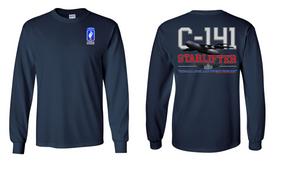"173rd Airborne Brigade ""C-141 Starlifter"" Long Sleeve Cotton Shirt"
