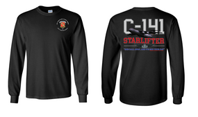"319th Airborne Field Artillery Regiment ""C-141 Starlifter"" Long Sleeve Cotton Shirt"