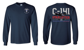 """325th Airborne Infantry Regiment  """"C-141 Starlifter"""" Long Sleeve Cotton Shirt"""