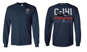 "504th Parachute Infantry Regiment  ""C-141 Starlifter"" Long Sleeve Cotton Shirt"