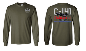 "US Army Basic Parachutist ""C-141 Starlifter"" Long Sleeve Cotton Shirt"