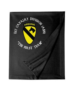 1st Cavalry Division (Airborne) (C)  Embroidered Dryblend Stadium Blanket