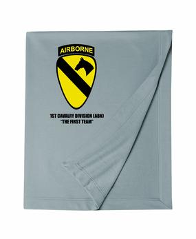 1st Cavalry Division (Airborne)  Embroidered Dryblend Stadium Blanket