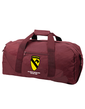 1st Cavalry Division (Airborne) Embroidered Duffel Bag