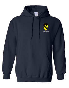 1st Cavalry Division (Airborne)  Embroidered Hooded Sweatshirt