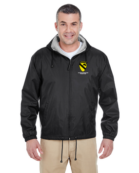 1st Cavalry Division (Airborne) Embroidered Fleece-Lined Hooded Jacket