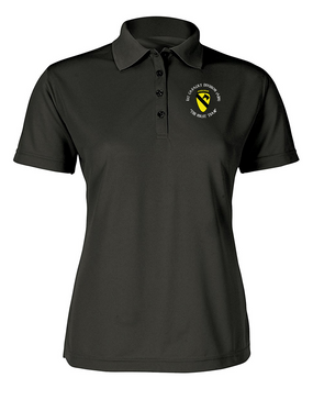 1st Cavalry Division (Airborne) (C) Ladies Embroidered Moisture Wick Polo Shirt