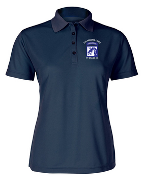 18th Airborne Corps (2) Ladies Embroidered Moisture Wick Polo Shirt