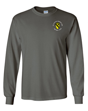 1st Cavalry Division (Airborne) (C)  Long-Sleeve Cotton T-Shirt