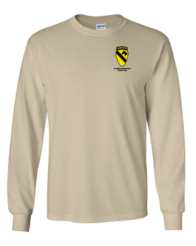 1st Cavalry Division (Airborne) Long-Sleeve Cotton T-Shirt