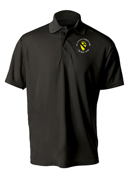 1st Cavalry Division (Airborne) (C)  Embroidered Moisture Wick Polo  Shirt