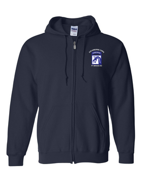 18th Airborne Corps (2) Embroidered Hooded Sweatshirt with Zipper