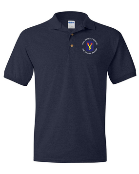 196th Light Infantry Brigade (C) Embroidered Cotton Polo Shirt