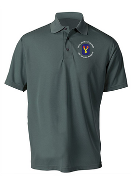 196th Light Infantry Brigade (C) Embroidered Moisture Wick Polo  Shirt