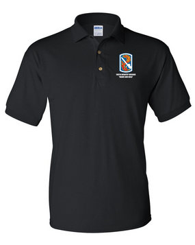 198th Light Infantry Brigade Embroidered Cotton Polo Shirt