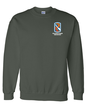 198th Light Infantry Brigade  Embroidered Sweatshirt