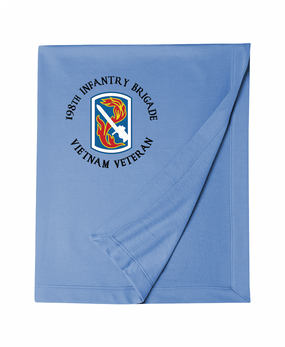 "198th Light Infantry Brigade ""Vietnam"" (C)  Embroidered Dryblend Stadium Blanket"