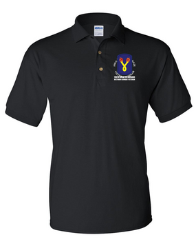 "198th Light Infantry Brigade ""Vietnam"" (C)  Embroidered Cotton Polo Shirt"