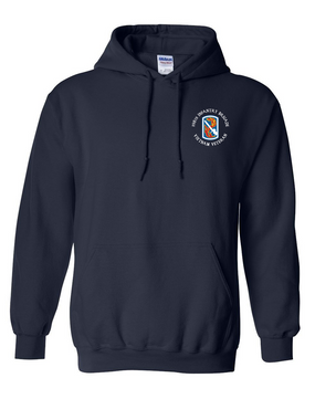 "198th Light Infantry Brigade ""Vietnam"" (C)  Embroidered Hooded Sweatshirt"